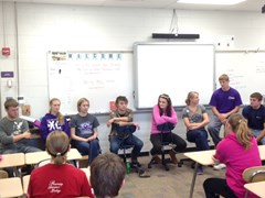 Seniors gave the freshman advice about high school (fall 2014)
