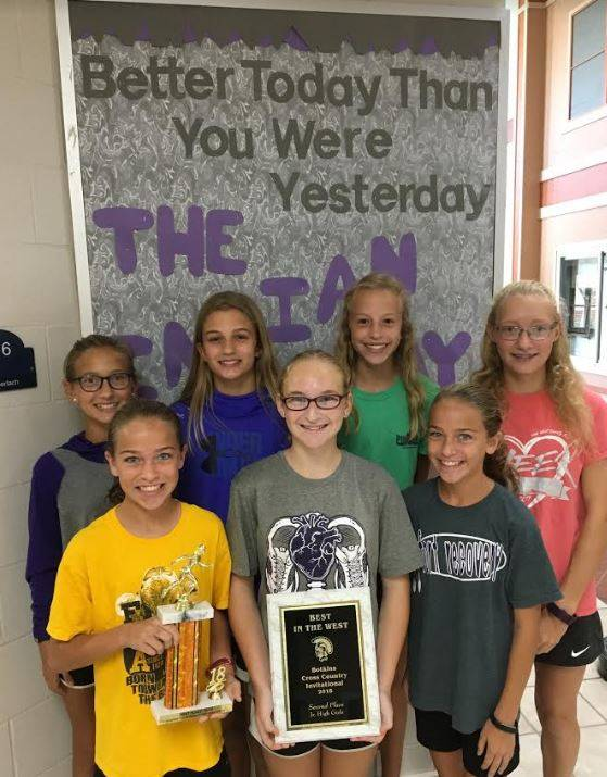 Girl's Cross Country- 1st Place at Versailles, 2nd Place at Botkins