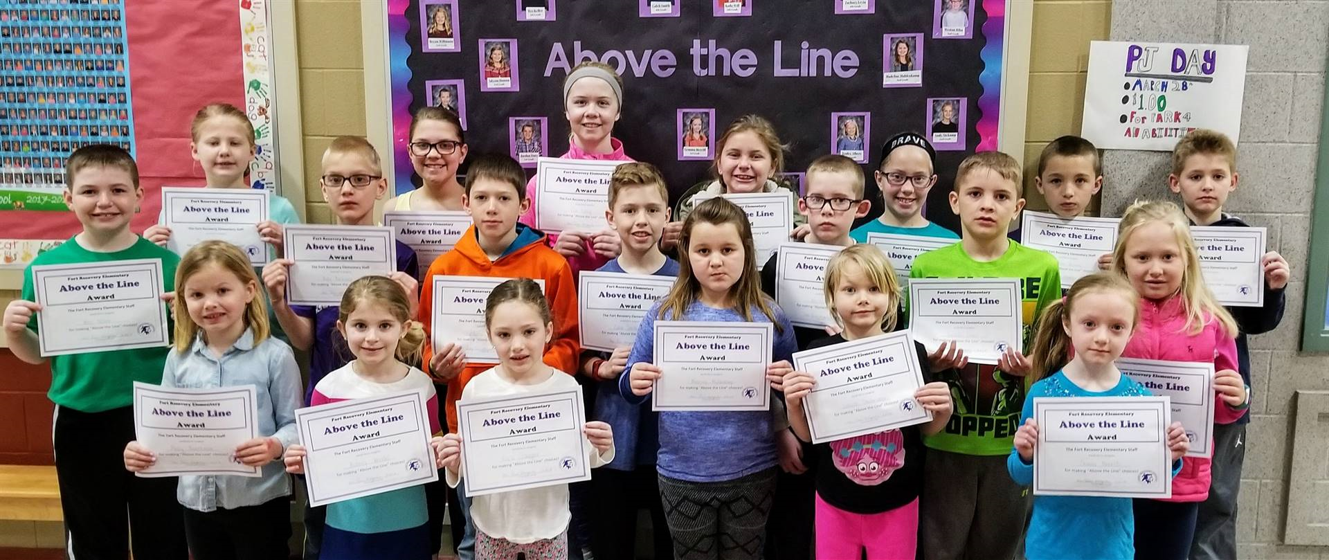 March Elementary Above the Line Winners