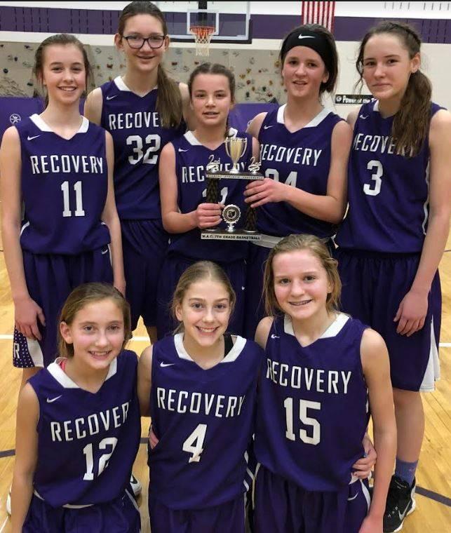 7th grade girls basketball - MAC Runner-ups!